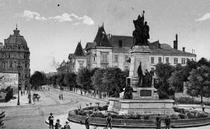 Statuia lui IC Bratianu - imagine de epoca