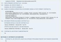 Contract cadru atribuit in SEAP