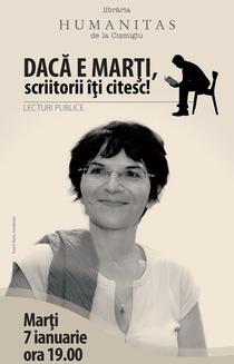 Seara de lectura: Ioana Parvulescu