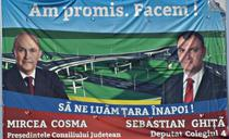 Afis electoral cu Mircea Cosma si Sebastian Ghita