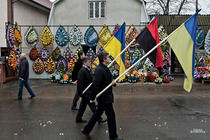 Cernauti, funeraliile unui etnic roman mort pe Euromaidan