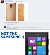 HTC si Nokia ironizeaza Samsung Galaxy S5