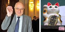 Dan Radu Rusanu si maneki-neko, pisica aducatoare de bani