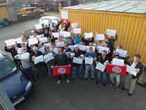 Protest al muncitorilor romani la Frankfurt (Foto Ralf Helwerth)