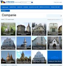 Cum arata sectiunea Companie din portalul eRomania