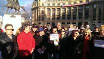 FOTOGALERIE Miting de solidarizare cu Andrei Plesu