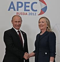 Hillary Clinton si Vladimir Putin