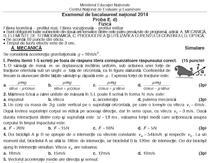 Subiectele simularii examenului de Fizica
