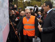 Premierul Ponta in vizita pe santier