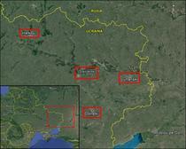 Marile orase din estul Ucrainei unde exista tensiuni (aprilie 2014)