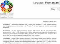 Subiecte EGMO 2014