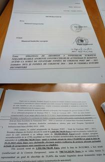 Primele pagini din Memorandumul dedicat autostrazilor pe fonduri de coeziune