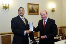 Frank Rose si Traian Basescu