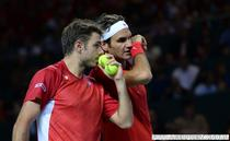 Stanislas Wawrinka si Roger Federer, echipa de Cupa Davis a Elvetiei