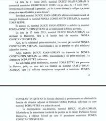 Referatul DNA in cazul Duicu - fragmentul in care apare numele premierului Ponta