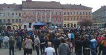 Protest anti-fracking la Arad 6 aprilie 2014