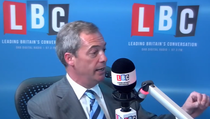 Nigel Farage, interviu la LBC