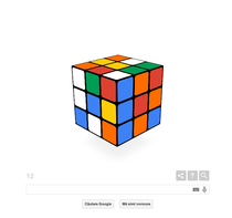 Cubul Rubik, sarbatorit de Google