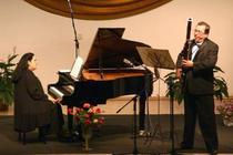 Pianista Ilinca Dumitrescu si fagotistul Vasile Macovei