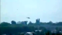 Imagine cu elicopterul doborat la Slaviansk