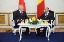 Traian Basescu si Milos Zeman