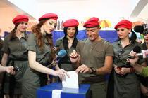 Radu Mazare la vot