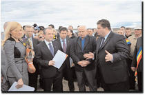 Boc, Udrea si Popescu la semnarea contractului