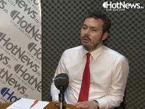 Razvan Nicolescu in studioul HotNews