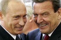 Vladimir Putin si Gerhard Schroeder