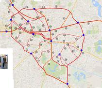 Harta Piste Biciclete centrul orasului