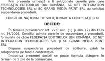 Decizia CNSC de suspendare a licitatiei