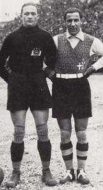 Rudy Hiden (Austria) si Giampiero Combi (Italia)