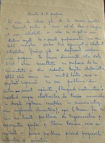 Scrisoarea lui Basarab Nicolescu adresata lui Ion Grigore
