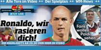 Prima pagina din Bild: Ronaldo, te-am ras!