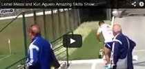 Messi si Aguero, spectacol la antrenament
