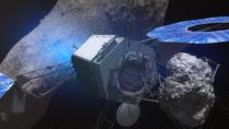 Redare artistica: Bratul robotizat redirectionand un asteroid