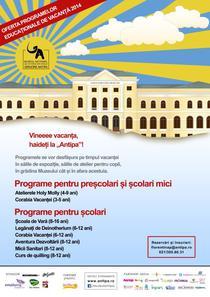 Afis Vine Vacanta cu trenul Antipa 2014