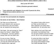 Subiecte Limba materna Germana