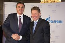 Sefii OMV (stanga) si Gazprom (dreapta)