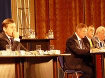 Crin Antonescu si Klaus Iohannis la Congresul PNL