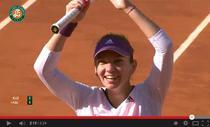 Simona Halep la finalul meciului cu Kuznetova