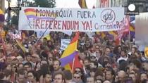 Manifestatii in Spania