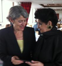 Mariana Nicolesco impreuna cu Directorul General UNESCO, Irina Bokova, la Paris