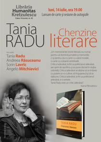 Tania Radu: Chenzine literare