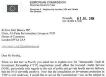 Scrisoarea negociatorului UE Ignacio Bercero