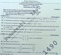 Subiecte BAC 2014 - Matematica informatica