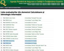 Registrul de Evaluatori ARACIS