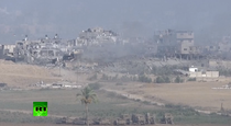 Bombardament in Gaza, cu cateva minute inainte de armistitiul de 12 ore