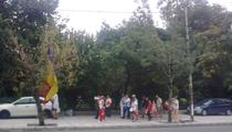 Stegarul dac si grupul de protestatari