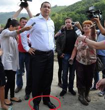Victor Ponta, la inundatii, in Gorj